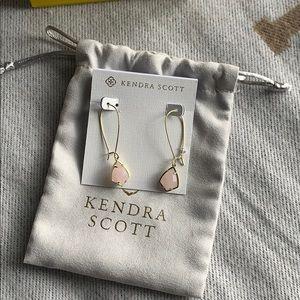 Kendra Scott Pink Drop Earrings. NWT